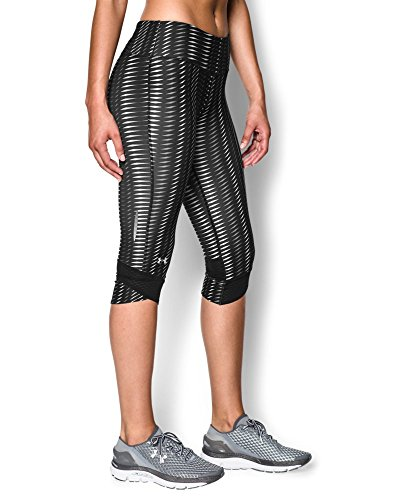 Under Armour Women's UA Printed Fly-By Compression Capri Medium Black