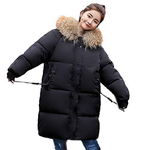 Piumino Lunga Ultraleggero Da Invernale Donna Donna Black Con Lungo Soprabito Cappuccio Giacca Slim vqgfdv