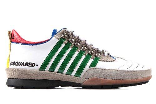 Dsquared2 Dsquared zapatos zapatillas de deporte hombres en piel blanco EU 45 S13 SN251 VP10 8842: Amazon.es: Zapatos y complementos