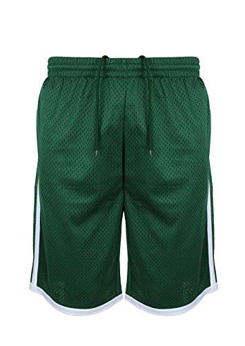 Lee Hanton Men's Performance Athletic Basketball Shorts (Medium, Green)