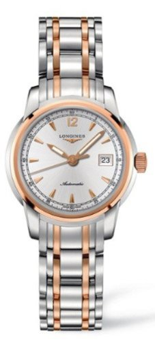 Longines Saint Imier Collection L2.563.5.79.7 Auto 18K Gold With Stainless Steel Case Back Transparent Women's Watch