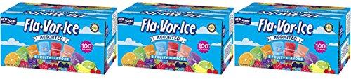 (Fla-Vor-Ice Freezer Pops, Gluten & Fat Free Ice Pops, Fruity Flavors (100 – 1.5 oz pops) (300))