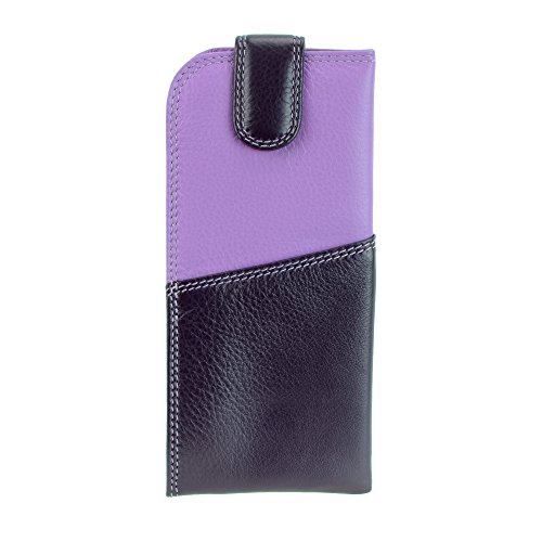 Visconti RB106 Soft Leather Eye Glasses Pouch / Sunglasses Case Holder (Lilac) by Visconti