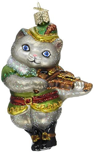 Old World Christmas Cat & The Fiddle Glass Blown ()
