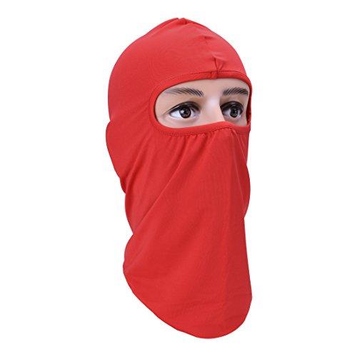 Balaclava Ski Mask Windproof Hood,Motorcycle Riding Face Mask,Red
