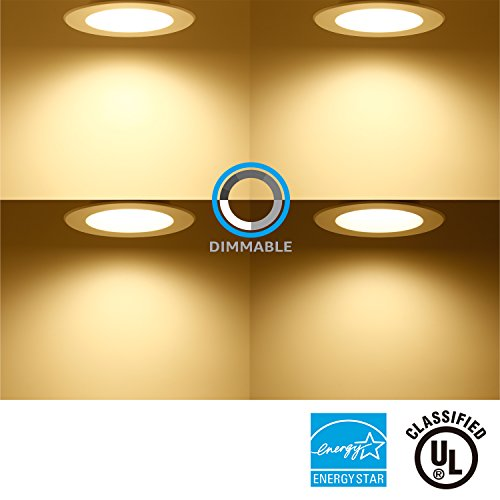 TORCHSTAR 5/6 Inch Dimmable Recessed LED Downlight, 13W (90W Equivalent), Energy Star, 2700K Soft White, 900lm, Retrofit LED Recessed Lighting Fixture, 5-YEAR Warranty, Pack of 12 by TORCHSTAR (Image #3)