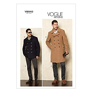 Vogue Patterns V8940 Men's Jacket and Pants Sewing Templates, Size MXX (40-42-44-46)