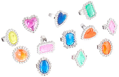 Pirate Treasure Jewel Rings, 24 count (Treasure Plastic)