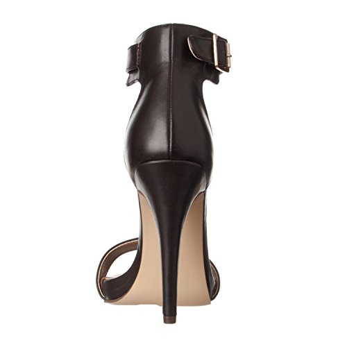 Women's High Open Ankle Riverberry Pumps Coffee Pu Strap Madi Heel vqwdX