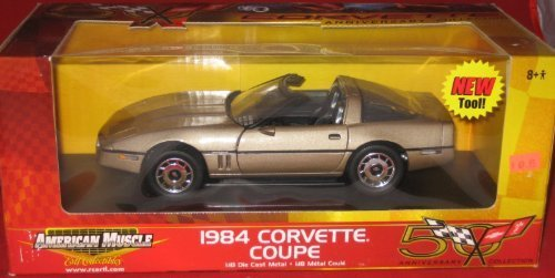 - Ertl American Muscle 1984 Corvette Coupe 1:18 Scale Die Cast Metal Gold (Corvette 50th Anniversary Limited Edition 2002 Release)