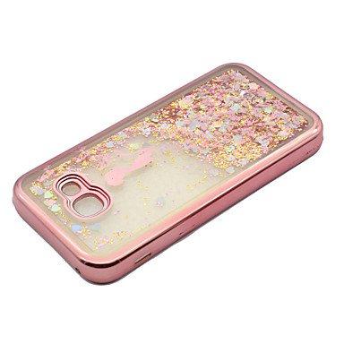 Casos hermosos, cubiertas, Para el samsung a5 (2017) a3 (2017) tpu material que platea el laser que talla la caja del teléfono de la arena movediza ( Modelos Compatibles : Galaxy A3(2017) ) Galaxy A3(2017)