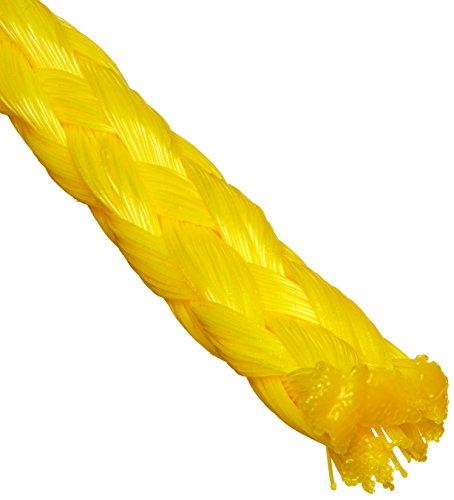 - Cordage Source 4033P Braided Poly Rope, 3/8-Inch by 50-Feet, Yellow