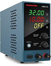 DC Power Supply Variable, Adjustable Bench Power Supply with 4-Digit LED Display, 0-30 V/0-10 A, Display Power, LOCK Function(Button), Protective Function, One Key Switch Control
