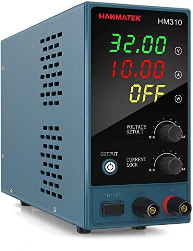 Adjustable DC Power Supply (0-30 V 0-10 A) with Output Enable/Disable Button HM310 Mini Variable Switching Digital Bench Power Supply