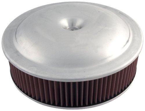 "Allstar ALL26090 14"" Diameter Plain Aluminum Finish Carburetor Air Cleaner Top"