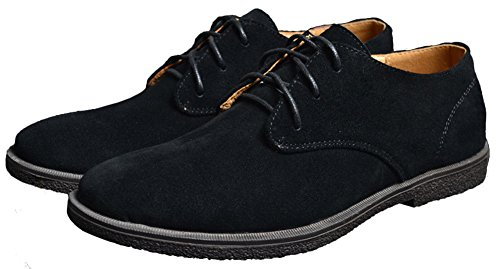 Suede Mens Fangsto Lace Black Oxfords Flat Shoes Fashion UPS qTEdC6Ewx