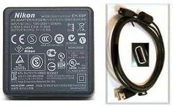 Genuino Original NIKON CoolPix AC adaptador cargador EH-69P