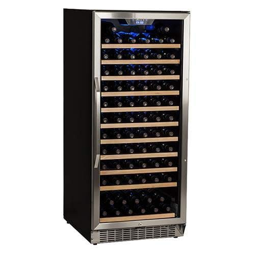 Edgestar CWR1211SZ 121 Bottle Single Zone Built-in Wine Cooler - Stainless Steel and Black