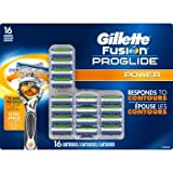 Gillette, Fusion Proglide Power Cartridges 16ct 5 Blades with Gillette's Most Advanced Coating, Thinner, Finer Blades for Less Tug & Pull, Precision Trimmer to Help Shape Facial Hair.