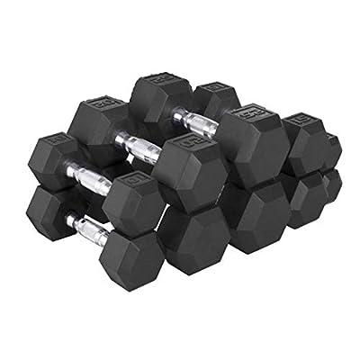 CAP Barbell 150-lb Rubber Hex Dumbbell Weight Set