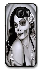 Day of the Dead Custom Samsung Galaxy S6/Samsung S6 Case Cover Polycarbonate Black