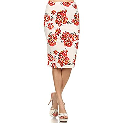 (Plus Size) Full Length Graphic Print Hi-Lo Hem Front Tie Skirt (MADE IN U.S.A) for sale