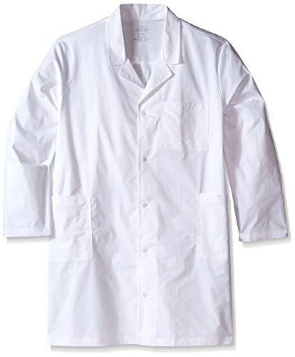 Cherokee Men's Big and Tall Ww Core Stretch 40 Unisex Lab Coat, White, - Lab Coat Antimicrobial