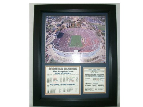 Notre Dame Stadium Knute Rockne Lou Holtz 11x14 Framed & Matted 8x10 Photo