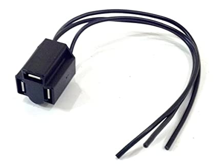 Amazon.com: Front Headlight Wiring Harness Connector Plug, 3 Prong on 3 wire wiring harness, 3 wire power connector, 3 pin connector, 3 hose connector, screw terminal connector, 3 terminal connector, 6 pin wire connector,