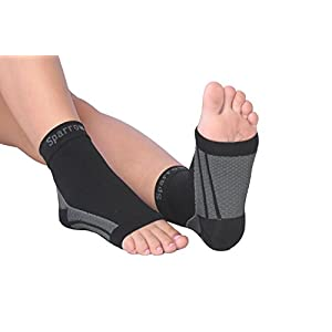 Sparrow® Compression Socks - Eases Plantar Fasciitis Pain - Supports the Arches - Provides Ankle Support - Supports Circulation to Reduce Swelling (Medium)