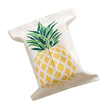 Pineapple Pattern Napkin Paper Bag Holder Portable Creative Decoration