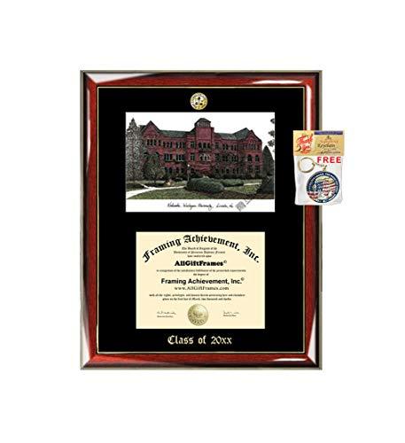 - Nebraska Wesleyan University Diploma Frame Diploma Lithograph Major Logo NWU Degree Display Emboss Graduation Award University Diploma Frame