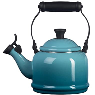 Le Creuset Enamel-on-Steel Demi 1-1/4-Quart Teakettle, Caribbean