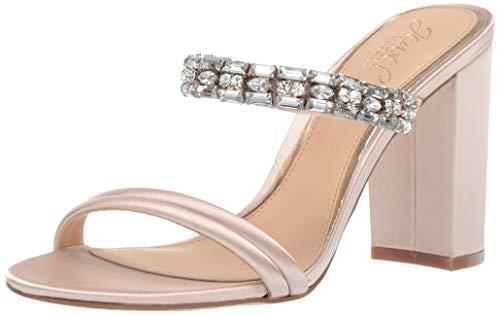 - Badgley Mischka Jewel Women's Katherine Heeled Sandal, Champagne Satin, 9 M US