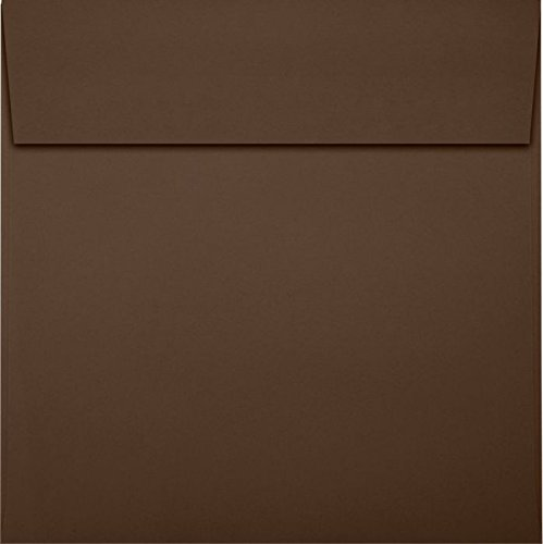 6 1/2 x 6 1/2 Square Envelopes - Chocolate (50 Qty) | Perfect for Invitations, Announcements, Greeting Cards, Photos | EX8535-17-50 ()