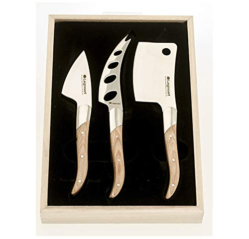 Legnoart Reggio Cheese Knife Set in Stainless Steel and Light Wood ()
