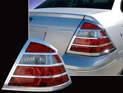 - QAA FITS TAURUS 2008-2009, FIVE HUNDRED 2005-2007 FORD & SABLE 2008-2009, MONTEGO 2005-2007 MERCURY (2 Pc: ABS Plastic Taillight Bezels w/Chrome Overlay, 4-door) TL45490