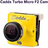 FPV Camera Caddx Turbo Micro F2 1200TVL 2.1mm Cam 1/3 CMOS 16:9 NTSC PAL Switchable 2.1mm IR Blocked Yellow for FPV Racing Drone