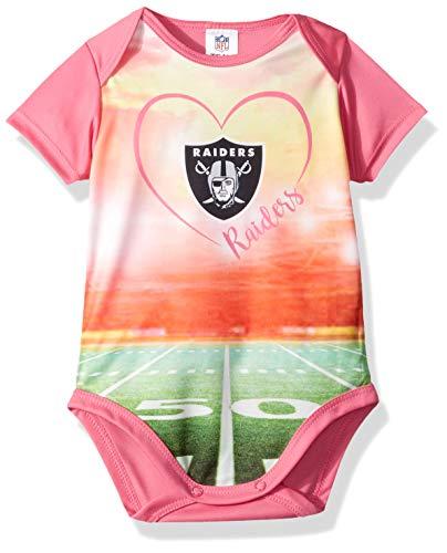 d7b5dc3d2 NFL Oakland Raiders Baby-Girls Short-Sleeve Bodysuit