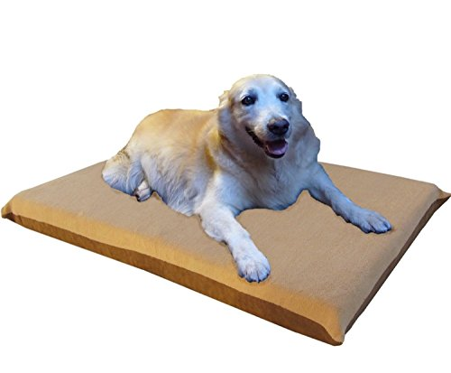 ehomegoods 41″X27″X4″ Beige Color Orthopedic Waterproof Memory Foam Pet Pad Bed for Medium Large dog crate size 42″X28″ with 2 external covers For Sale