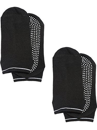 Satinior Non Skid Socks Anti Slip Yoga Barre Ballet Dance Pilates Socks with Grips for Men and Women