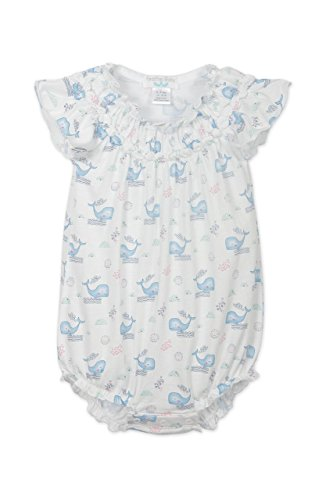 Feather Baby Girls Clothes Pima Cotton Short Sleeve Ruched Sunsuit Bubble Bodysuit (Body Old 09)