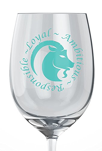 Capricorn Personality Traits Zodiac Wine Glass