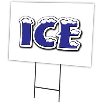 """HAWAIIAN SHAVED ICE 12/""""x16/"""" Yard Sign /& Stake outdoor plastic  window"""