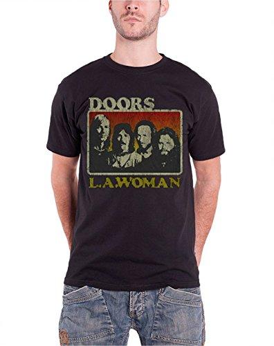 The Doors LA Woman New Official Mens black T Shirt (70s Men Clothes)