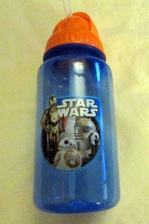 Sans BPA FREE Star Wars Water Bottle With Flip-Up Straw