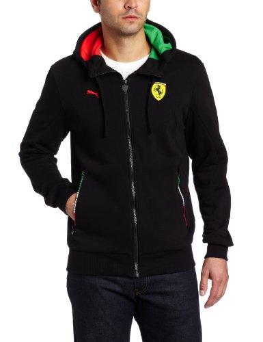 - PUMA Men's Scuderia Ferrari Hooded Sweat Jacket, Black, Large