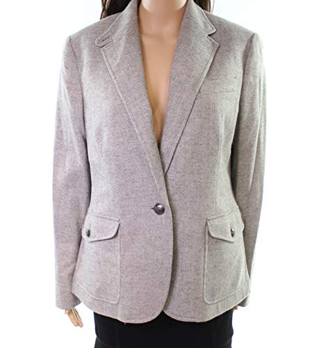 Lauren by Ralph Lauren Women's Blazer Suit Career Wool Gray 12