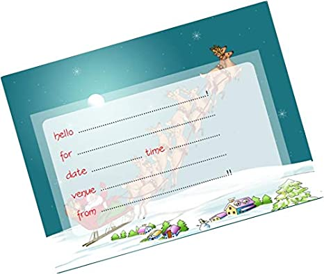 Partystuff Cards Christmas Invitation Card 2 Amazon In
