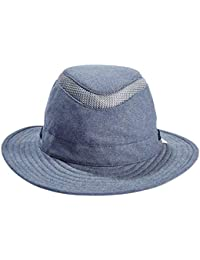 Tilley Mens Womens TMH55 Sun Protection Guaranteed for Life Water Repellant Recycled Airflo Sun Hat Denim